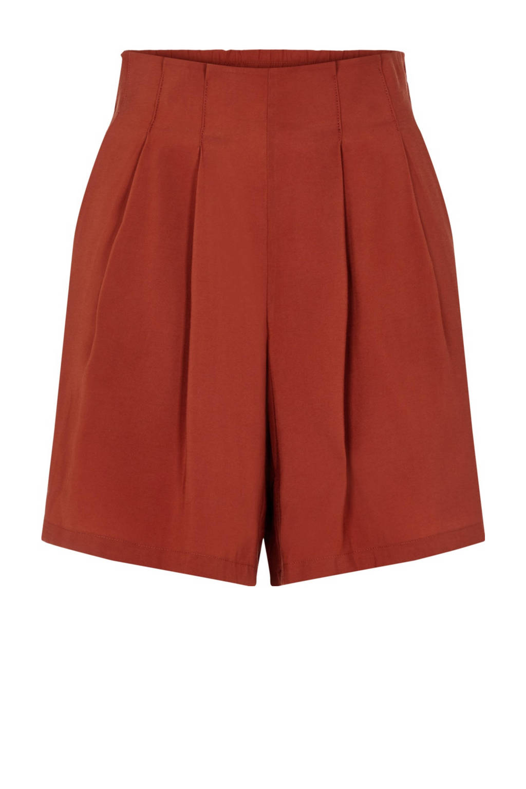 PIECES high waist loose fit short rood, Rood