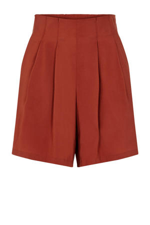 high waist loose fit short rood