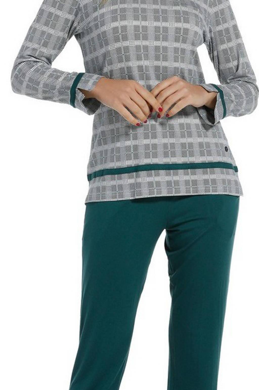 Pastunette Deluxe pyjama met all over print groen, Groen