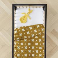 wehkamp home dekbedovertrek ledikant, Baby (100 cm breed), donker okergeel, wit
