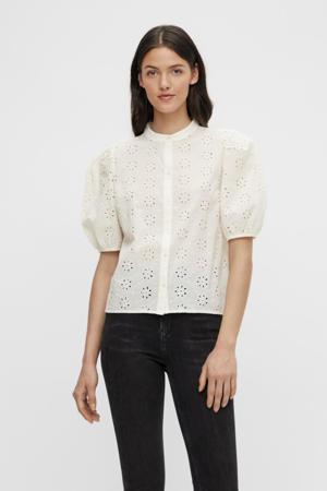 blouse TILLIE van biologisch katoen gebroken wit