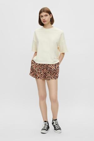 high waist short PCNYA met all over print beige/koraal