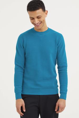 trui met textuur turquoise