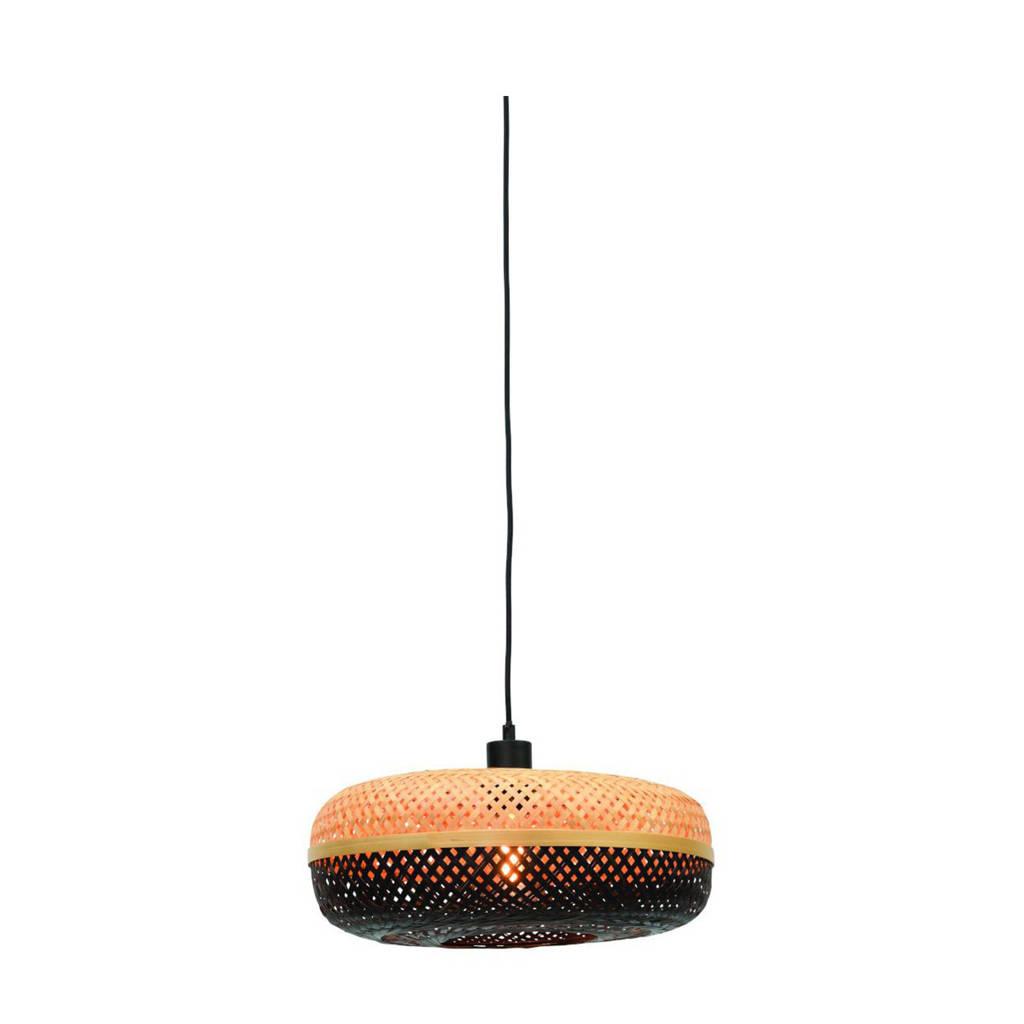 Good&Mojo Hanglamp Palawan, Zwart, naturel