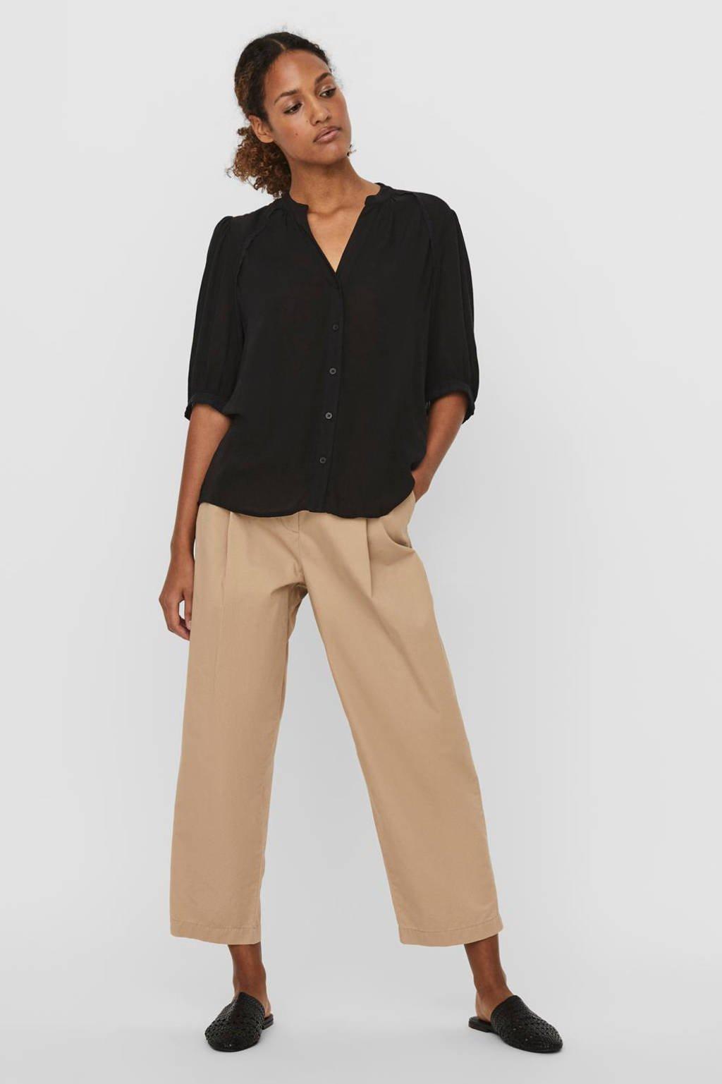 VERO MODA blouse VMJANE zwart, Zwart