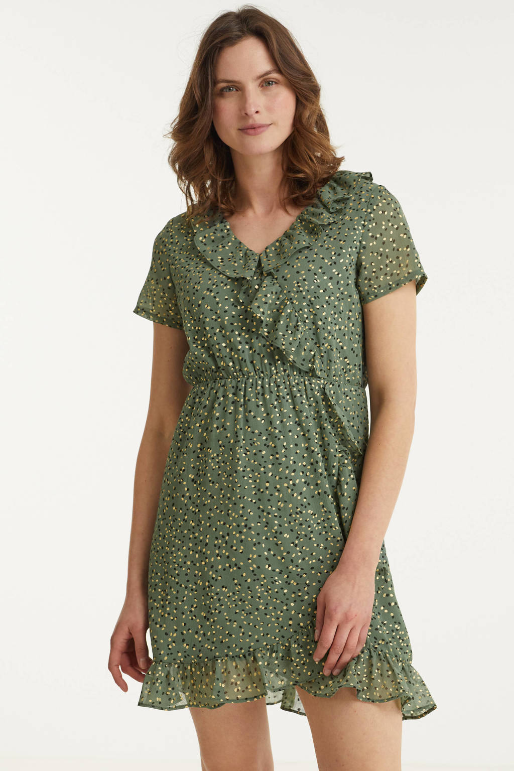 VERO MODA overslagjurk VMJOT van gerecycled polyester groen, Groen