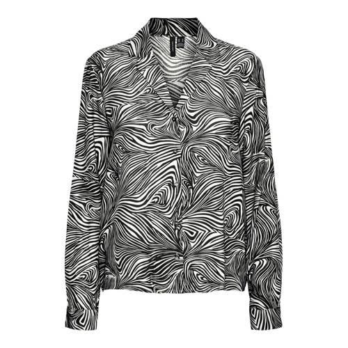 VERO MODA blouse VMGEA met all over print wit/zwart