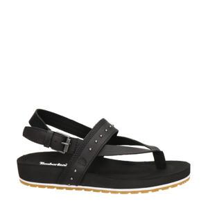 Malibu Waves  leren sandalen met studs zwart