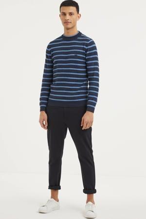gestreepte trui donkerblauw/blauw