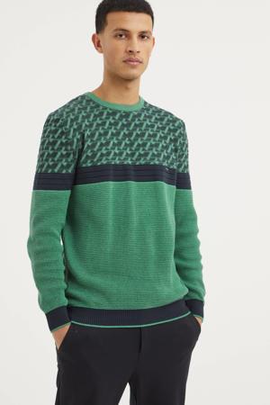 trui groen/donkerblauw