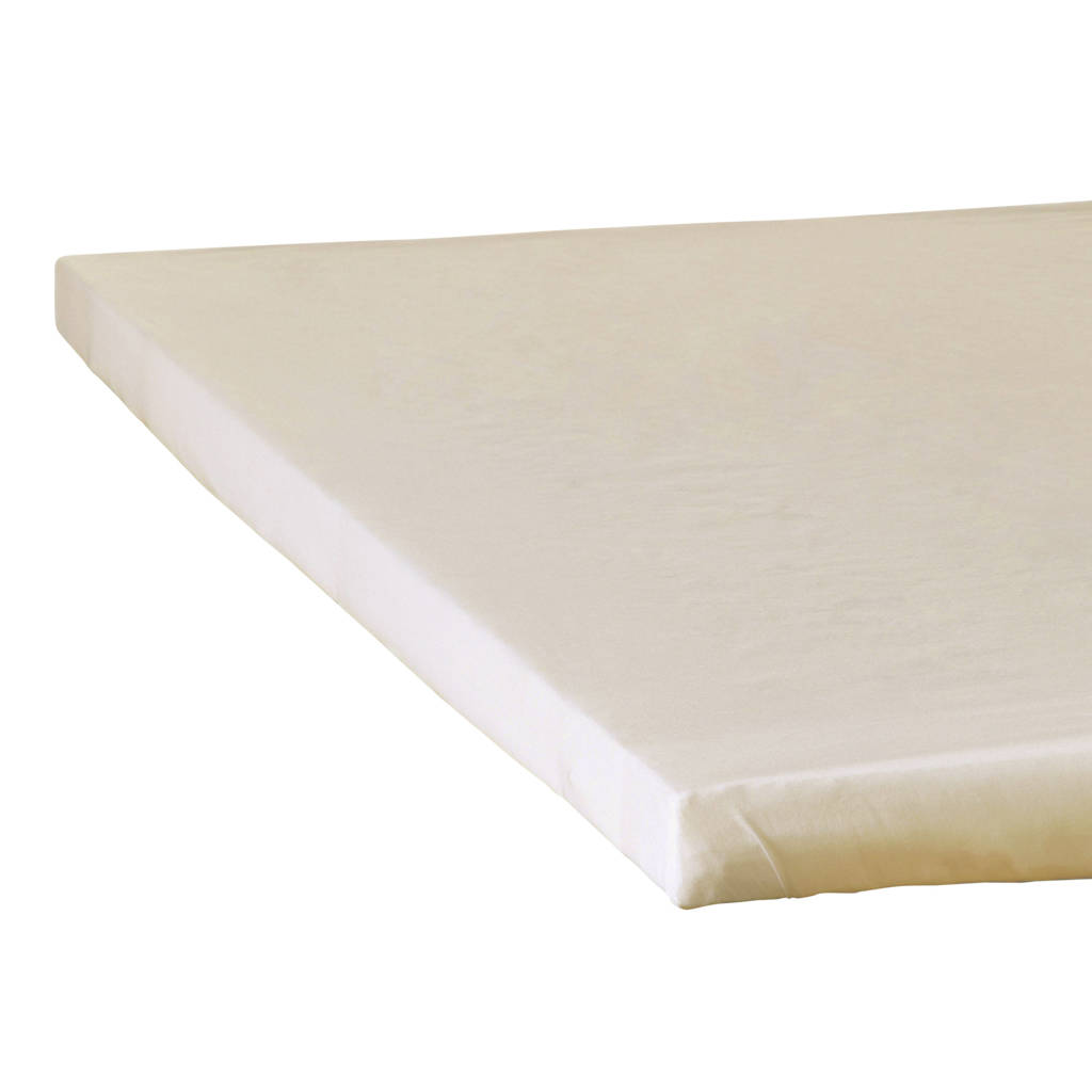 Wehkamp Home katoensatijnen hoeslaken top matras Beige