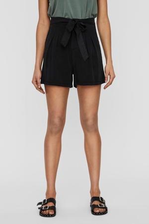 high waist short zwart