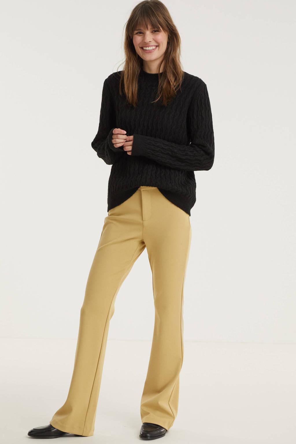 VERO MODA flared pantalon VMAMIRA geel, Geell