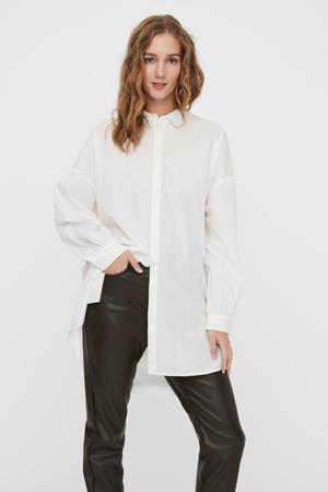 blouse VMBINA van biologisch katoen wit