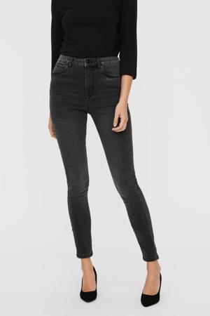 high waist skinny jeans VMSOPHIA  met biologisch katoen dark grey denim