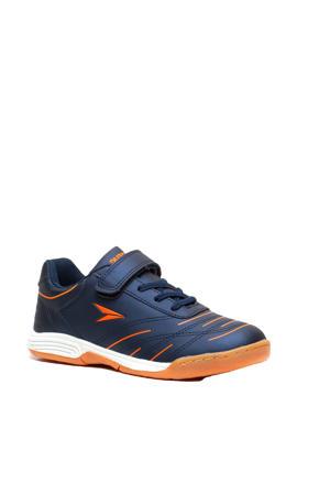 zaalvoetbalschoenen blauw/oranje
