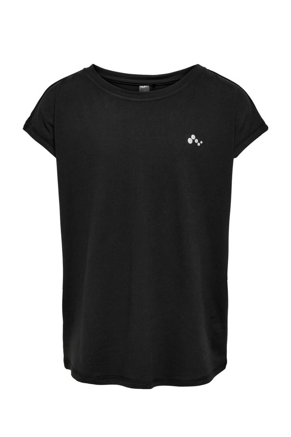 ONLY PLAY Girls sport T-shirt Aubree zwart, Zwart