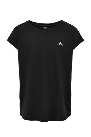 sport T-shirt Aubree zwart