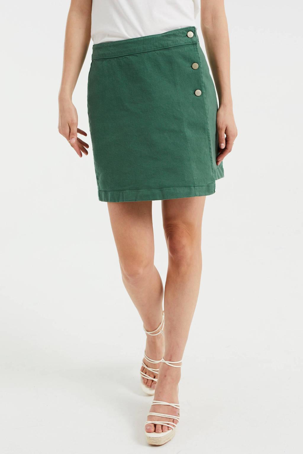 WE Fashion spijkerrok, Groen