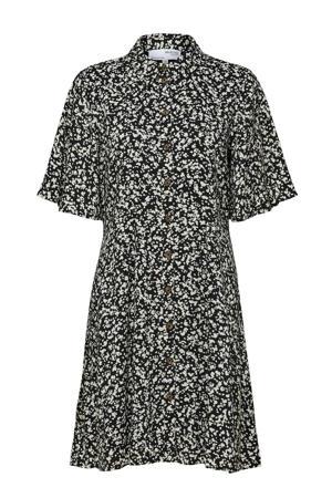 blousejurk SLFUMA met all over print zwart