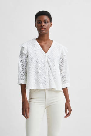 blouse van biologisch katoen wit