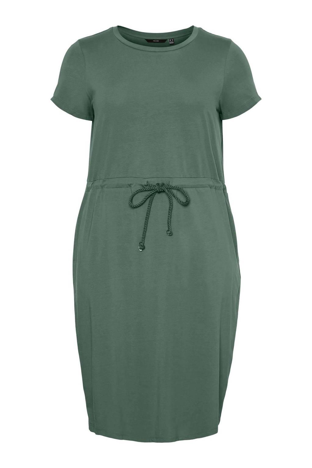VERO MODA CURVE jurk VMCOT groen, Groen