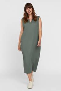 VERO MODA CURVE ribgebreide jurk VMMILNA groen, Groen