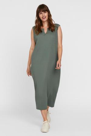 ribgebreide jurk VMMILNA groen