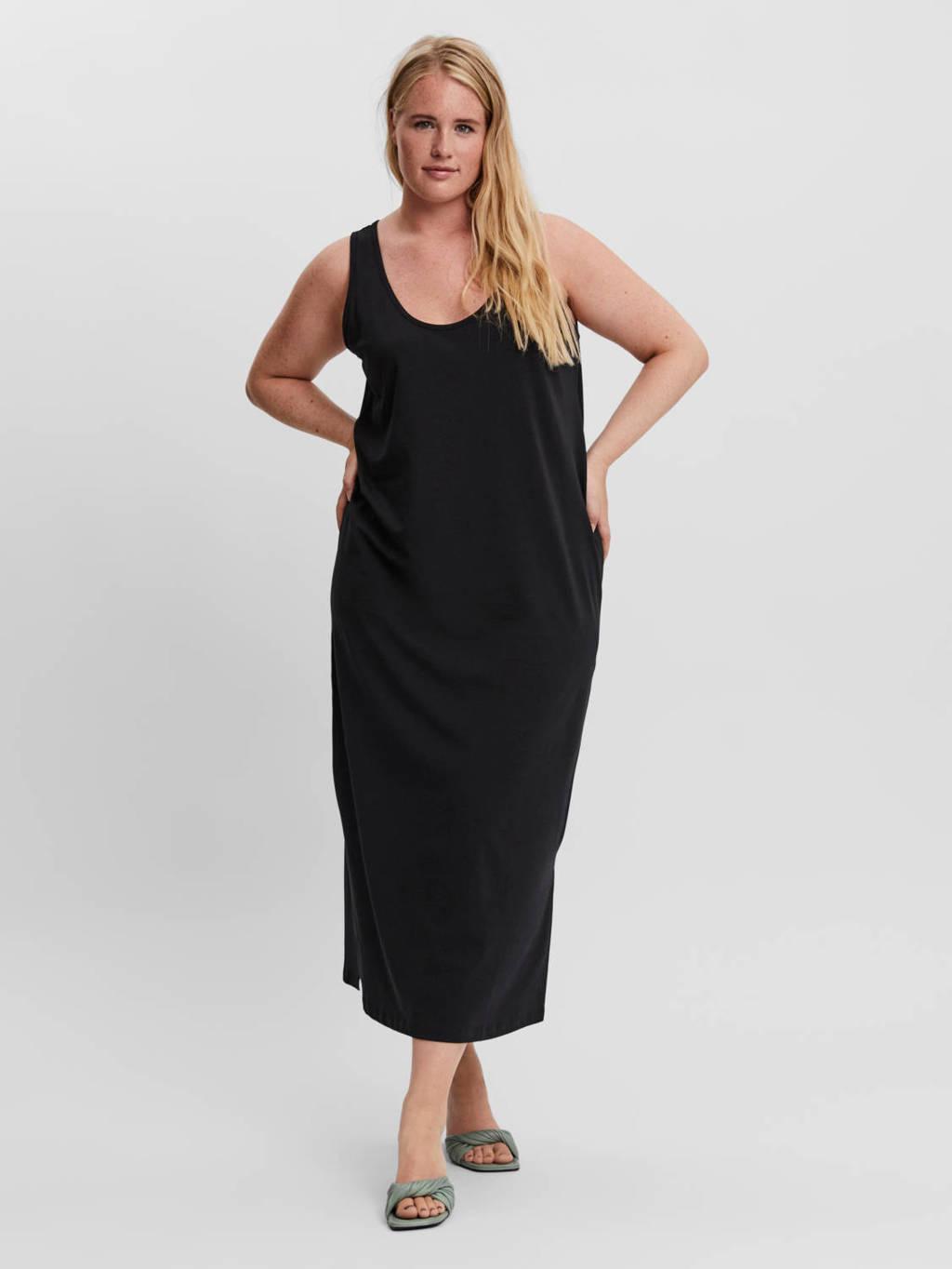 VERO MODA CURVE maxi jurk VMKIKKE zwart, Zwart