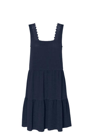 A-lijn jurk VMALICE van gerecycled polyester donkerblauw