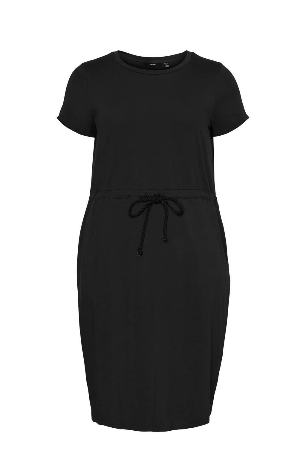 VERO MODA CURVE jurk VMCOT zwart, Zwart