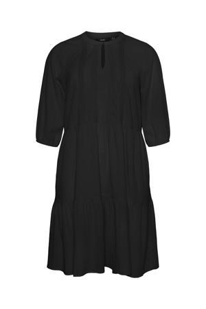 A-lijn jurk VMMANA van biologisch katoen zwart