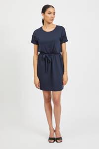 VILA jurk VIANIKA  met ceintuur donkerblauw, Donkerblauw