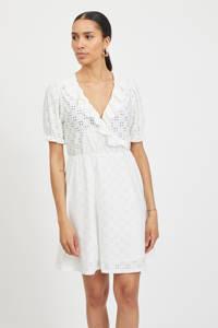 VILA jurk VITRESSY van gerecycled polyester wit, Wit