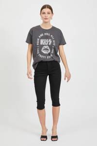 VILA skinny broek VIJEGGY met biologisch katoen zwart, Zwart