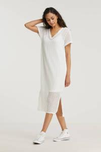 VILA gehaakte maxi jurk VIJULISA met biologisch katoen wit, Wit