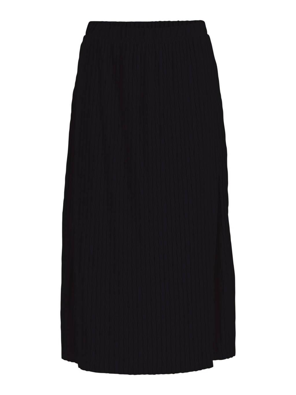 VILA midi rok VIPLEASA zwart, Zwart