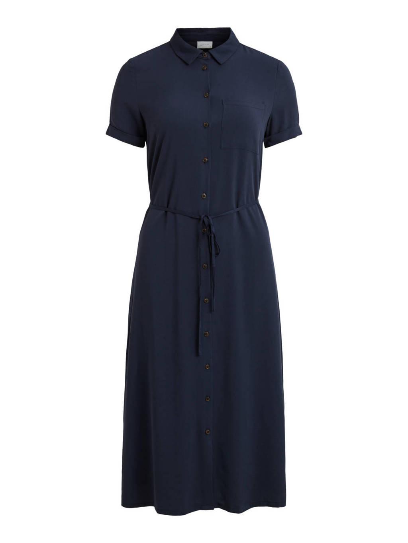 VILA blousejurk VISUVITA met ceintuur donkerblauw, Donkerblauw