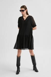 SELECTED FEMME jurk SLFABIGAIL zwart, Zwart