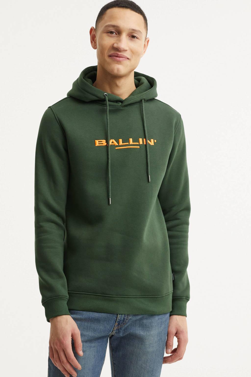 Ballin hoodie met logo groen, Groen