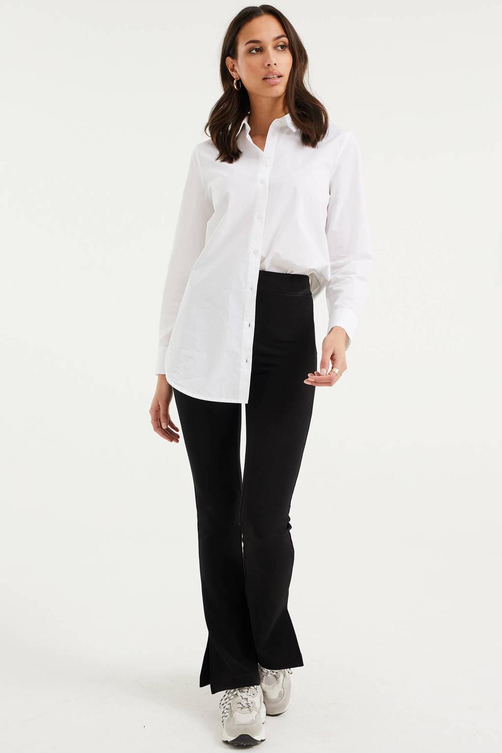 WE Fashion flared broek zwart, Zwart