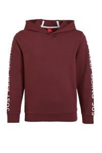 s.Oliver hoodie met tekst bordeaux, Bordeaux