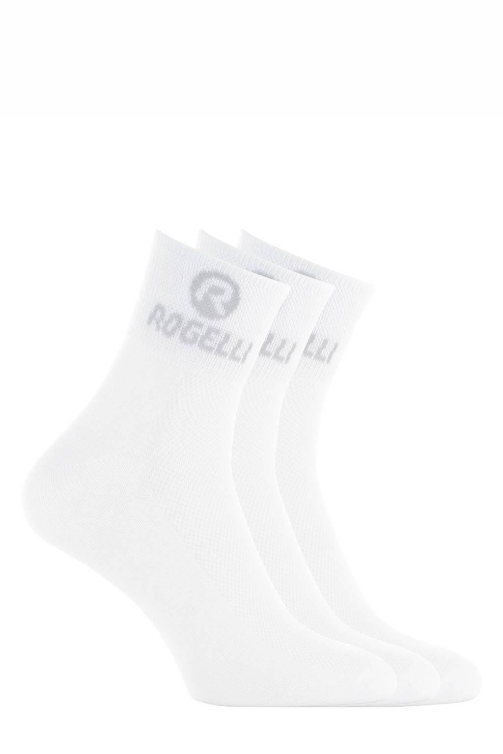 Rogelli   sportsokken Promo - set van 3 wit, Wit