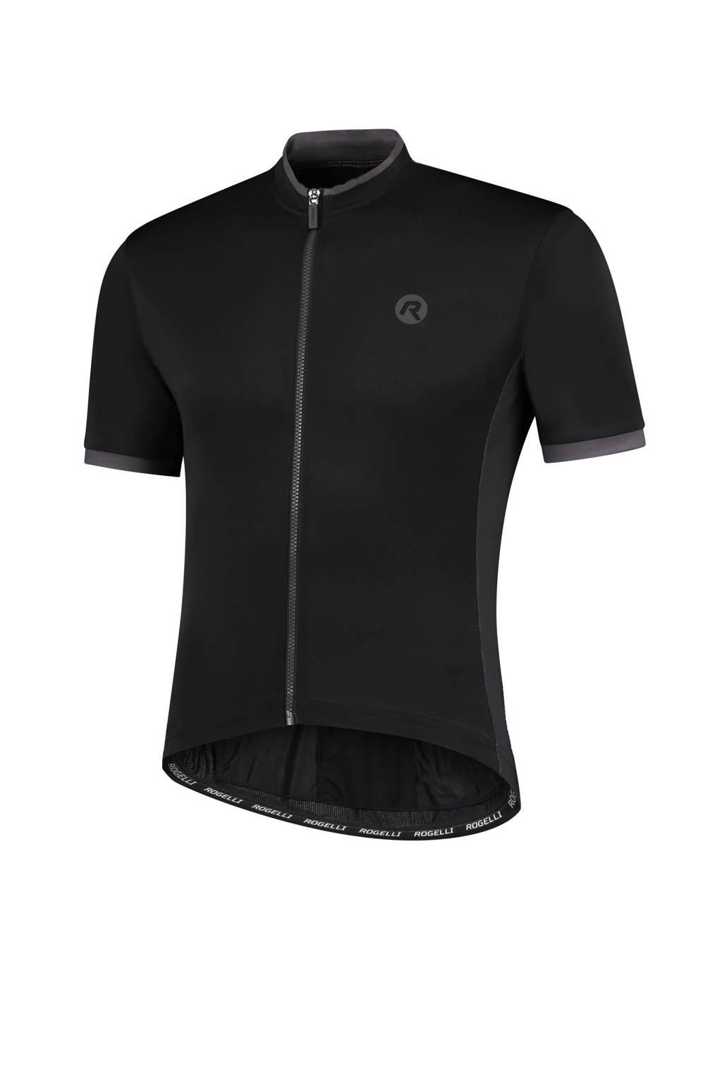 Rogelli   fietsshirt Essential zwart, Black