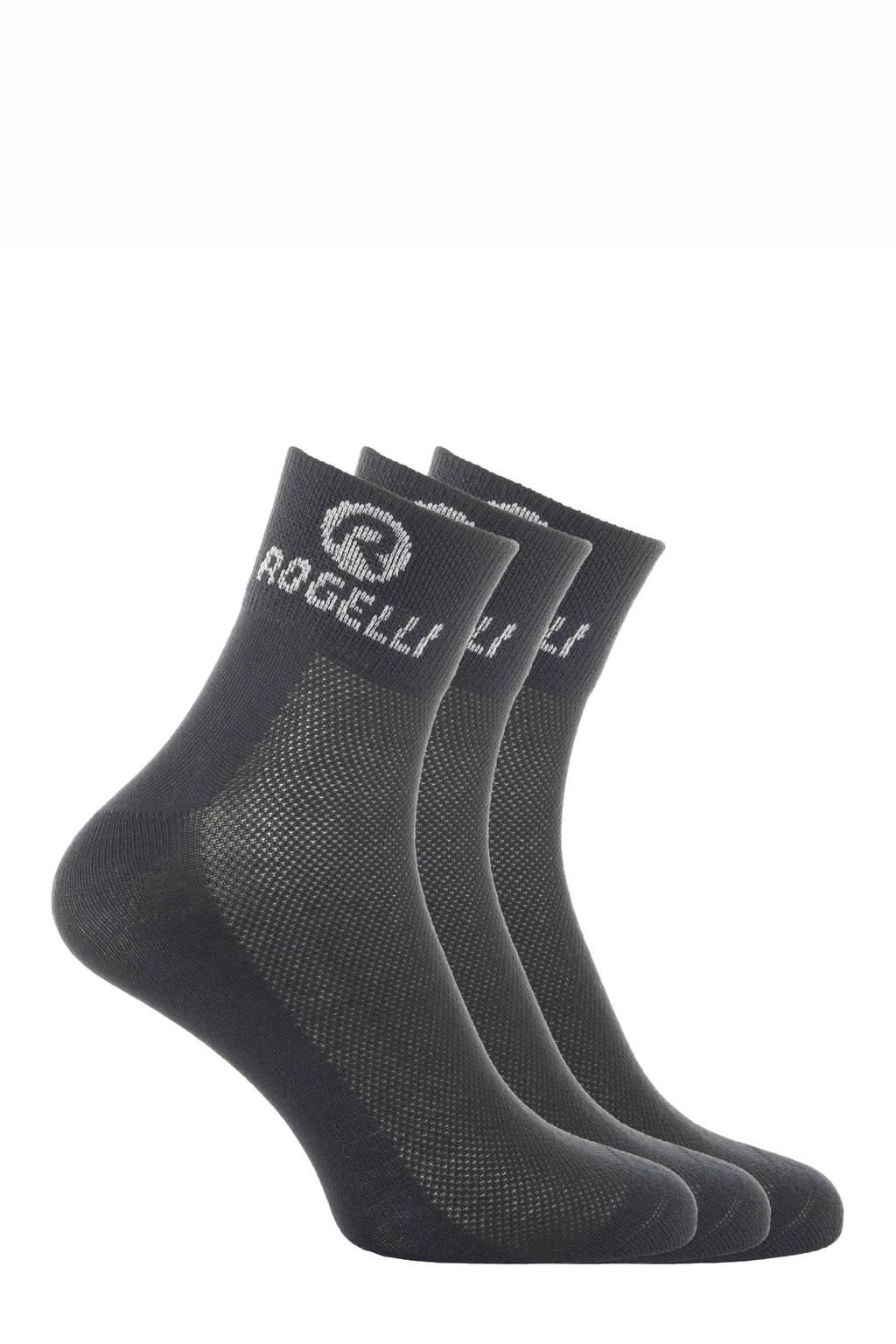 Rogelli   sportsokken Promo - set van 3 zwart, Zwart