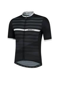 Rogelli   fietsshirt Stripe zwart/wit, Zwart/wit
