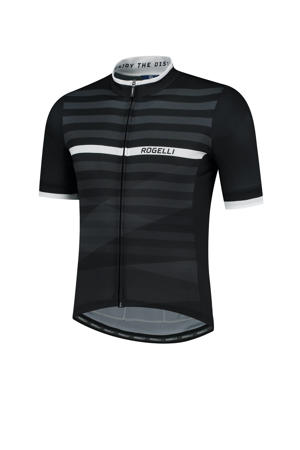 fietsshirt Stripe zwart/wit