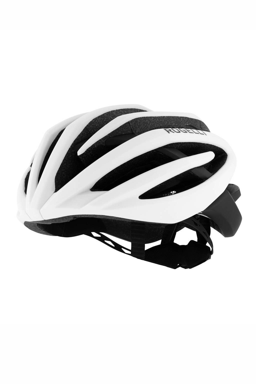 Rogelli fietshelm Tecta wit/zwart, Wit/zwart