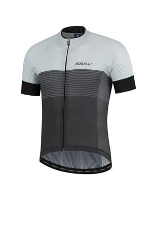 fietsshirt Boost zwart/donkergrijs/wit