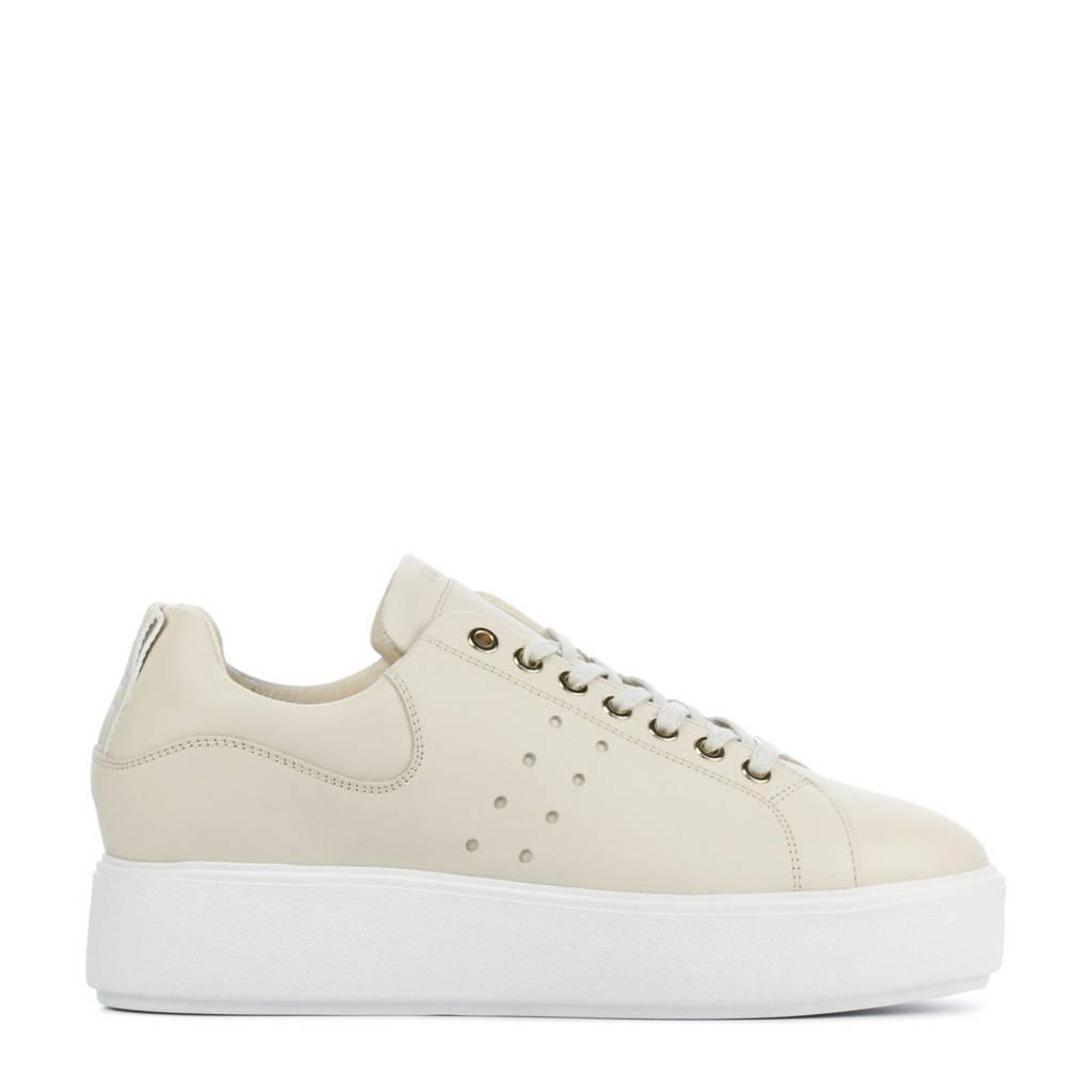 Nubikk Elise Marlow  leren plateau sneakers beige, Beige